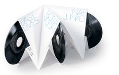 The Journal of Popular Noise's 3 7-inch vinyls put together in an accordion-inspired letter pressed packaging.