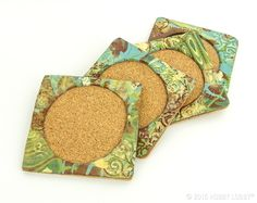 Set these boho-chic coasters out on your coffee table, and let guests admire your way with clay.