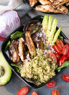 Lime Chicken, Grilled Chicken, Healthy Dinner Options, Dinner Recipes, Garlic Parmesan Shrimp, Cilantro Lime Quinoa, Shrimp And Vegetables, The Fresh, Meal Prep