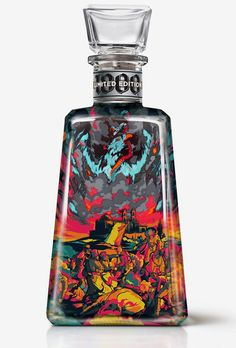 Packaging design for Tequila' (Limited edition) by I Love Dust Tequila Bottles, Alcohol Bottles, Liquor Bottles, Perfume Bottles, Beverage Packaging, Bottle Packaging, Tequila 1800, Fun Drinks, Alcoholic Drinks