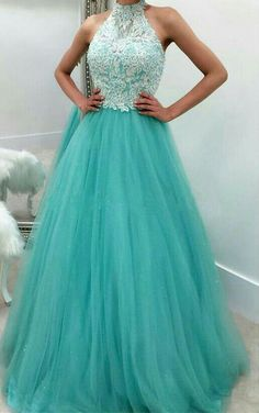 blue tulle lace a line long high-neck prom/evening dress for teens Custom Prom Dress, Prom Dress Cheap, Blue Prom Dress, High Neck Prom Dress, Evening Dresses Lace Prom Dresses 2020 Prom Dresses For Teens, A Line Prom Dresses, Tulle Prom Dress, Beautiful Prom Dresses, Quinceanera Dresses, Ball Dresses, Homecoming Dresses, Sexy Dresses, Evening Dresses