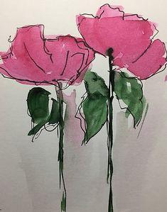 """Kaufe """"2 rosa Blumen"""" von Britta75 auf folgenden Produkten: T-Shirt, Classic T-Shirt, Vintage T-Shirt, Leichter Hoodie, Tailliertes Rundhals-Shirt, Shirt mit V-Ausschnitt, Baggyfit T-Shirt, Grafik T-Shirt, Chiffontop für Frauen, Kontrast T..."""