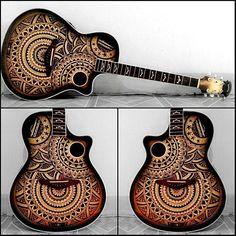 Guitar project done ❤ #guitar #byyourstruly #doodle #lineart #design #illustration #mandala #mandalamaze #drawing #zentangle #tattoo #sharpies #ink #art #drawingsofinstagram #geometricart #dotart #draw #art #mandala_art #art_help #beautiful_mandalas #featurek #mellow_mandala