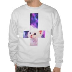 Inverted Cross & Galaxy Kitten Sweatshirt
