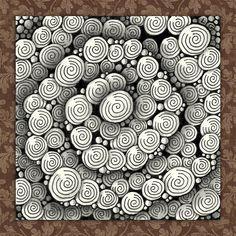 Time for Tangling: Classic Zentangle® - Printemps & Tipple What Is Zentangle, Zentangle Drawings, Doodles Zentangles, Sketchbook Drawings, Doodle Patterns, Zentangle Patterns, Zen Doodle, Doodle Art, Tangle Art