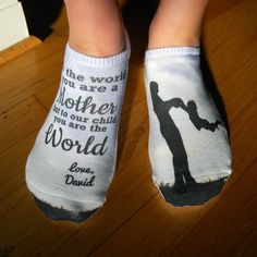 The Happy Sole: For Mom - Mother's Day Gift Socks 2015 by www.SockprintsOnEtsy.com