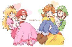 Super Mario Brothers, Super Mario Bros, Super Mario Kunst, Nintendo Super Smash Bros, Super Mario Princess, Mario And Princess Peach, Nintendo Princess, Luigi And Daisy, Mario And Luigi