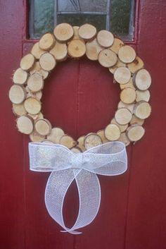 DIY-Rustic-Wood-Slice-Wreath2 - Factory Direct Craft Blog