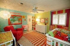 This room really pops! #nursery