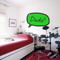 Dude Thinking Cloud Kids Room Play Room Decor Wall by FabDecals, $39.00