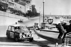 The Mini Cooper was surprisingly one of the most dominant cars in the Monte Carlo Rally. Here we see 1964 winner Patty Hopkirk behind the wheel of a Cooper S. The Mini Cooper is also one of the most controversial cars in Monte Carlo history: in 1966, three Mini Coopers along with a Lotus Cortina were disqualified due to arcane headlight regulations. This gave Citroën an overall victory.
