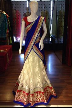 Exclusive Collection of Indian Celebrity Sarees and Designer Blouses Indian Attire, Indian Wear, Indian Dresses, Indian Outfits, Simple Lehenga, Desi Clothes, Indian Clothes, Indiana, Half Saree Designs