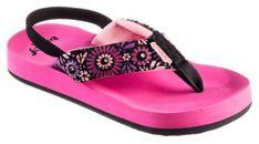 Reef Little Ahi Lights Sandals for Kids - Magenta - 9 Toddler