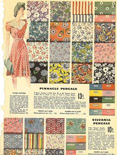 1940s vintage fabric patterns