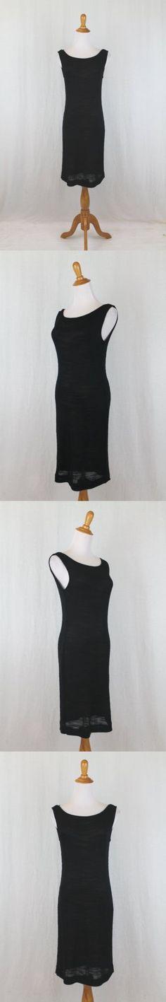 Dresses 175784: Vintage Dei Tre Anne Klein Black Viscose Dress Nude Silk Lining It 38 Us 2 -> BUY IT NOW ONLY: $112 on eBay!