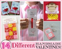 14 Different Handmade Valentine's.
