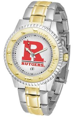 NCAA Men's Rutgers Scarlet Knights Competitor Two-Tone Watch