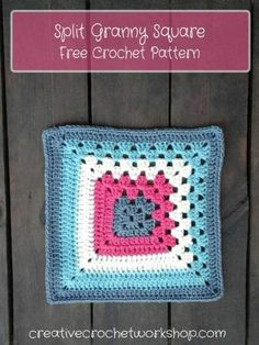 Split Granny Square - Free Crochet Pattern | Creative Crochet Workshop