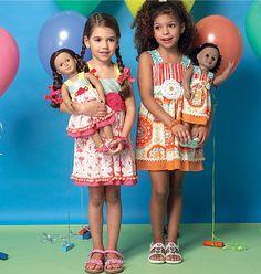 MODÈLE de robe de filles / Boutique Style Dress - robe d