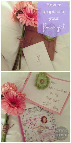 "Flower girl ""proposal"" kit. How I asked her to be my flower girl | Pihling Kansas"
