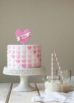 Ombre Heart Cake from @Tessa McDaniel McDaniel McDaniel McDaniel Lindow Huff- Style Sweet CA