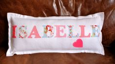 Personalised Handmade Name Cushion  GIRL OR BOY by TheBespokeEmporium, £15.00  CLICK HERE