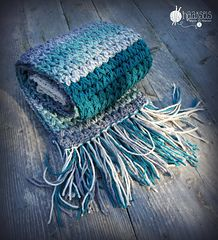 *Free Crochet Pattern:  V Puff Scarf