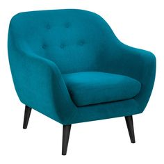 Far Pavillions - Elly 1 Seater Occasional Chair Petrol Blue Fabric