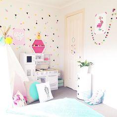 идея декора детской комнаты
