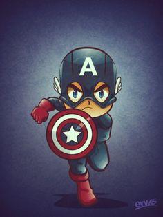 Mini superheroes super hero lovers captain america, marvel h Marvel Comics, Marvel Heroes, Marvel Avengers, Comic Books Art, Comic Art, Logo Superman, Chibi, Marvel Captain America, Marvel Wallpaper