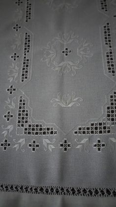 Hardanger Embroidery, Hand Embroidery, Bargello, Macrame, Needlework, Sewing, Pattern, Straight Stitch, Diy And Crafts