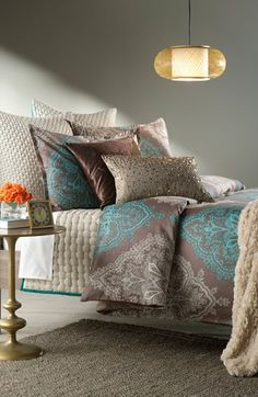 Shop bed and bath at Buyer Select. Our curated selection includes beautiful duvet covers, designer, and luxury bedding sets as well as sumptuous linens. Bedroom Bed, Dream Bedroom, Bedroom Decor, Bedroom Styles, Bedroom Colors, Luxury Bedding Sets, Beautiful Bedrooms, Bed Spreads, Decoration