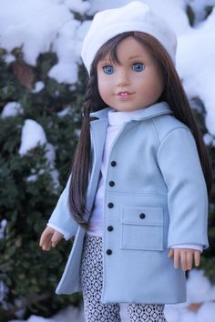 """American Girl Doll Clothes.  """"Icy Blue Wind Chill"""" Four Piece Outfit fits 18 inch Dolls"""