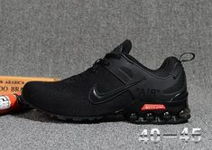 ecea6ff14018a7 Nike Air Shox Flyknit Triple Black Mens Footwear Nike Air Vapormax