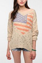 Staring at Stars Slub Knit Flag Sweater