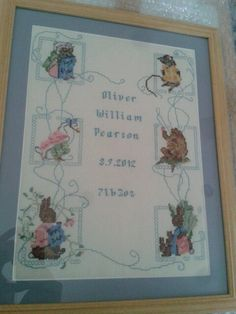 Beatrix potter cross stitch