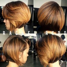 Glorious Autumn hues with chocolate under cut. Adds volume & great movement. Job A Bob❣