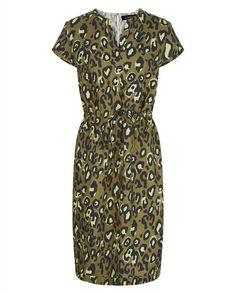 Linen Animal Print Dress | Womens Clothing | Jaeger