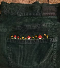 embroidered my corduroys today - Embroidery Cute Embroidery, Embroidery Patterns, Embroidery On Jeans, Diy Fashion, Fashion Outfits, Fashion Shirts, 2000s Fashion, Winter Fashion, Fashion 2020