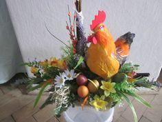 Rezervované-dekorácia velkonočná,celoročná hracia sliepka-55cm