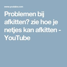 Problemen bij afkitten? zie hoe je netjes kan afkitten - YouTube