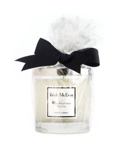 Trish McEvoy Boxed Wild Blueberry Vanilla Scented Candle-Trish's luxurious Wild Blueberry Vanilla Scented Candle instantly sets a warm, irresistible mood while exuding scent even when unlit. Now luxuriously presented in a keepsake gift box.