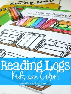 A Reading Log Kids Can Color