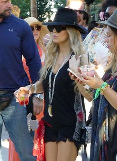 Fergie arrives at the Coachella Valley Music and Arts Festival in Coachella, Calif., on April 12, 2014.