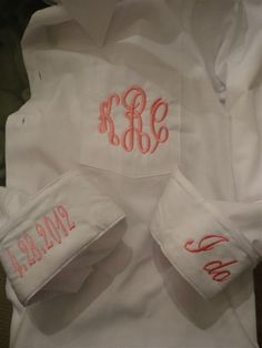 Oversided Bride or Bridesmaid Button Down Monogrammed-