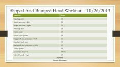Feel free to follow our workouts.