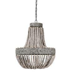 Hanglampen - Beading Brown hout hanglamp 2 lagen