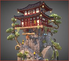 chinese architecture ArtStation - Chinese Old Place, Christophe Degraeve Ancient Chinese Architecture, Minecraft Architecture, Japanese Architecture, Pavilion Architecture, Architecture Office, Futuristic Architecture, Casa Medieval Minecraft, Minecraft Houses, Environment Concept Art