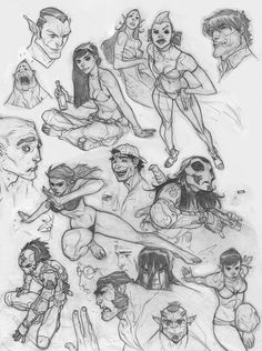 SketchDump 3/4/2013 by jeffwamester.deviantart.com on @deviantART