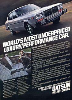 Items similar to 1978 Datsun 810 Car Ad Vintage Automobile Advertisement Print Wall Art Decor on Etsy Datsun Car, Nissan Infiniti, Vintage Cars, Vintage Auto, Retro Cars, Car Advertising, Performance Cars, Japanese Cars, Jdm Cars